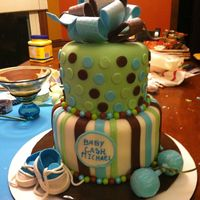 Baby Shower Cake Red Velvet With Buttercream Frosting And Fondant On Outside I Did Some Research And I Found Adding Two Tables Spoons Of C... Baby shower cakeRed velvet with buttercream frosting and fondant on outside. I did some research and I found adding two tables spoons of...