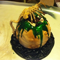 Alien Cake This Was The Final Project To Bad It Didnt Make It The Weather Made It Collapse The Fondant Separated From The Buttercream Alien cake! This was the final project, to bad it didn't make it! The weather made it collapse, the fondant separated from the...