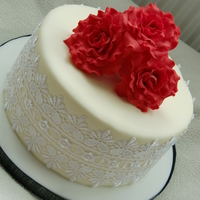 Red Roses Cake Red roses cake
