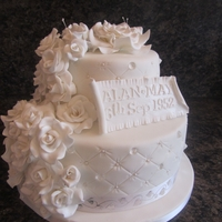 Diamond Wedding Anniversary wedding anniversary cake
