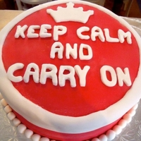 Keep Calm And Carry On Birthday Cake ' Keep Calm and Carry On' poster