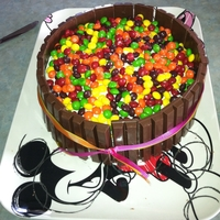 Skittles And Kitkat Cake