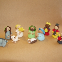 Nativity Cake Decorations A fondant figurine set I made for a Christmas Nativity Cake, a few years back, when I had just started cake decorating. Hours of work, but...