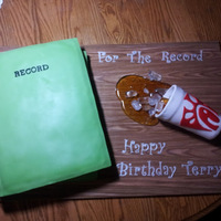 Birthday Cake For A Government Worker Who Always Carries One Of Those Green Government Record Books And His Favorite Drink From That... Birthday cake for a government worker who always carries one of those green government record books and his favorite drink from that...