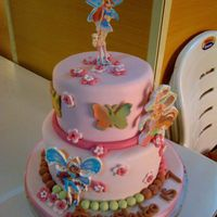 Birthday Cakes Showing Edible Pictures Of Winx Club Characters birthday cakes showing edible pictures of winx club characters