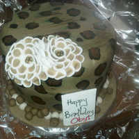 Leopard Patterns shaped cake with leopard patterns
