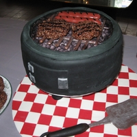 Labor Day Bbq Grill This grill cake was alot of fun to make, but the accents were the most fun. The hamburgers were made of Coco risp crispies, the hotdogs...