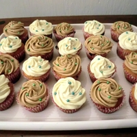 Cupcakes With Almond And Coffee Buttercream