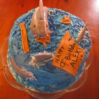 Alex's Shark Cake My son loves sharks, so put some on his birthday cake. :) TFL.
