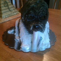 Graduation Cake For Cassie Rhonda Hill asked for her dog for her daughters graduation cake...glasses and all
