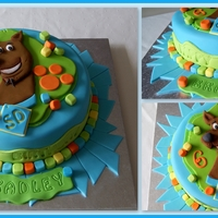 Scooby Doo Cake chocolate cake with chocolate butter cream