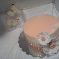 "Just Saying Thank You Chocolate Cake w/ Vanilla Buttercream and Fondant Anemones ""My first time at Anemones"""