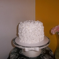 Bridal Shower Cake 6in White Velvet Cake w/ Swiss Meringue Buttercream and Fondant Ruffles