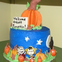 The Great Pumpkin This is my first Halloween cake. I had never made candy clay before & just waned to try it. I didn't use any molds, which now I...