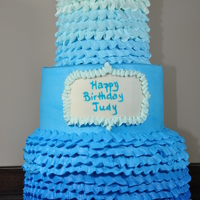 Blue Ombre For 80Th Birthday Party