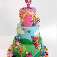 Who Doesnt Love Lalaloopsy This Cake Was So Fun To Make Everything Is Made From Fondant Except For The Dolls I Dont Normally Put Plas Who doesn't love Lalaloopsy!? This cake was so fun to make!! Everything is made from fondant except for the dolls! I don't...