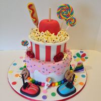 Coming To The Fair   I made this cake for a county fair contest which won 1st place!!! Everything is edible and handmade!