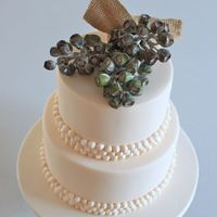 Two Tiered Pavlova Inspired Wedding Cake For An Outback Wedding Shoot As Featured In Cosmopolitan Bride Summer 20122013 The Beads Are All Two tiered 'pavlova' inspired wedding cake for an outback wedding shoot as featured in Cosmopolitan Bride Summer 2012/2013The...