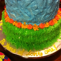 Luau Retirement Cake