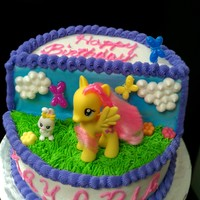 My Little Pony Fluttershy Birthday Cake  When a friend requested a My Little Pony cake, I began searching for ideas. I saw a cake on-line that was stacked like this and decided to...
