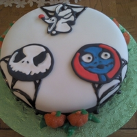 Jack And Sally This is a cake inspired by The Nightmare Before Christmas. Its a french vanilla cake covered in fondant. Jack, Sally and Zero are made of...