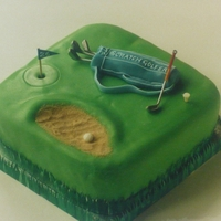 Golf Cake My friend's husband is a keen golfer and she asked me to make this cake for him. The sand in the bunker is made using soft brown sugar...