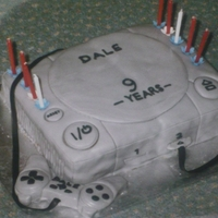 Play Station Birthday Cake. My son was given a Play Station for his 9th Birthday and so I rose to the challenge! I hadn't heard of Tylo Powder then, to firm up...