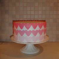 Pink Ombre Hearts Cakejpg