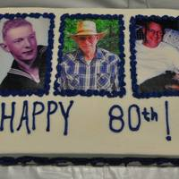 80Th Birthday Buttercream ~ Edible Images