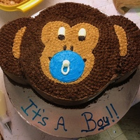 Made This For A Monkey Themed Baby Shower Cake Out Of A 9 In Round And 6 Inch Round Mocha Buttercream Made this for a Monkey Themed baby shower cake. Out of a 9 in round and 6 inch round. Mocha buttercream