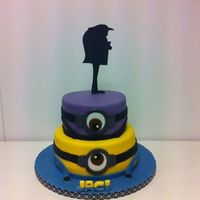 Minion Cake For The Minion Sweet Table Minion cake for the Minion Sweet Table