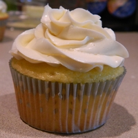 First Time Smbc Lemon cake mix cupcake with Swiss Meringue Buttercream. first time making it :)