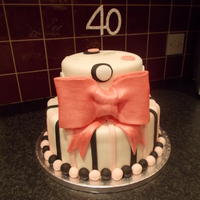 Fondant Bow Birthday Cake