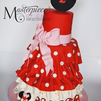Minnie Mouse Dress Cake So simple but ohh so cute!!