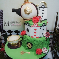 Alice In Wonderland Themed Cake Alice in Wonderland Themed Cake