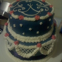 This Was Just A Practice Cake All Decorations Are Royal Icing With Navy Blue Fondant For A Smooth Look This was just a practice cake. All decorations are Royal Icing. With Navy Blue fondant for a smooth look.