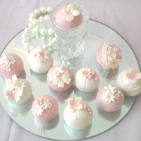 "Cake Balls   Pretty pink cake balls- Please visit my face book page ""Hearty Cakes"""