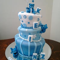 Topsy Turvy 1St Birthday Cake   three tier topsy turvy cake for 1st birthday