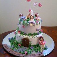 Fairy Garden Cake With Hand Made Gum Paste Fairies fairy garden cake with hand made gum paste fairies ..........