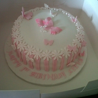 Butterfly Birthday Cake Made for a special girl for her 1st Birthday.