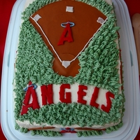 Go Angels! Spring 2012   Undefeated my beloved son baseball team end of year party. Go Angels!Italian meringue buttercream frosting and some fondant decorations
