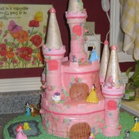 Princess Castle Cake I made this for my friends daughter for her 4th birthday. She wanted a Princess Aurora cake. I wanted the whole thing to be edible, so with...