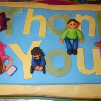 Kids   My first people, they are meant to be children for a teacher appreciation cake