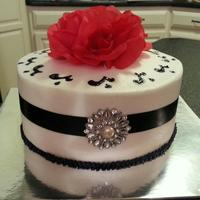 Wedding Cake In A Navy Theme. *