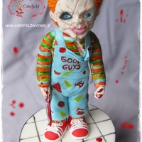 Charles Lee Ray Aka Chucky  Was trying Saracino modeling paste and its AMAZING! Love this stuff! I made something right down my alley and had so much fun creating him&...