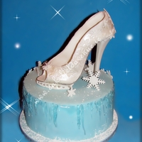 Winter Ice Shoe Cake   Traditional fruit cake and non traditional design ;) Happy Holidays to you all!!!! xoxoxo