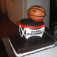 3D 3 Tier Basketball Cake