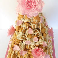 Pièce Montée - Wedding Cake My client wanted an alternative to a traditional croquembouche. I came up with a prism shaped Pièce Montée with a...