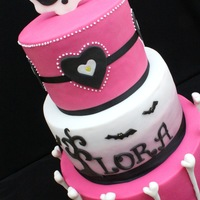 For A Monster High Themed Party 10 8 And 6 Inch Tiers For A Little Girl Who Wanted A Cake Somewhere Between Girly And Spooky For a Monster High themed party. 10, 8 and 6 inch tiers, for a little girl who wanted a cake somewhere between girly and spooky..