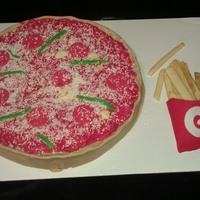 Pizza And Fries A grooms cake